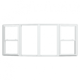 Jeld-Wen Builders Vinyl Bow Windows