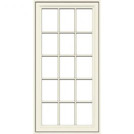 JELD-WEN Premium Vinyl Casement Windows French Vanilla