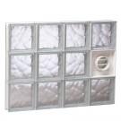 "Redi2Set 32"" x 24"" Glass Block with Dryer Vent"